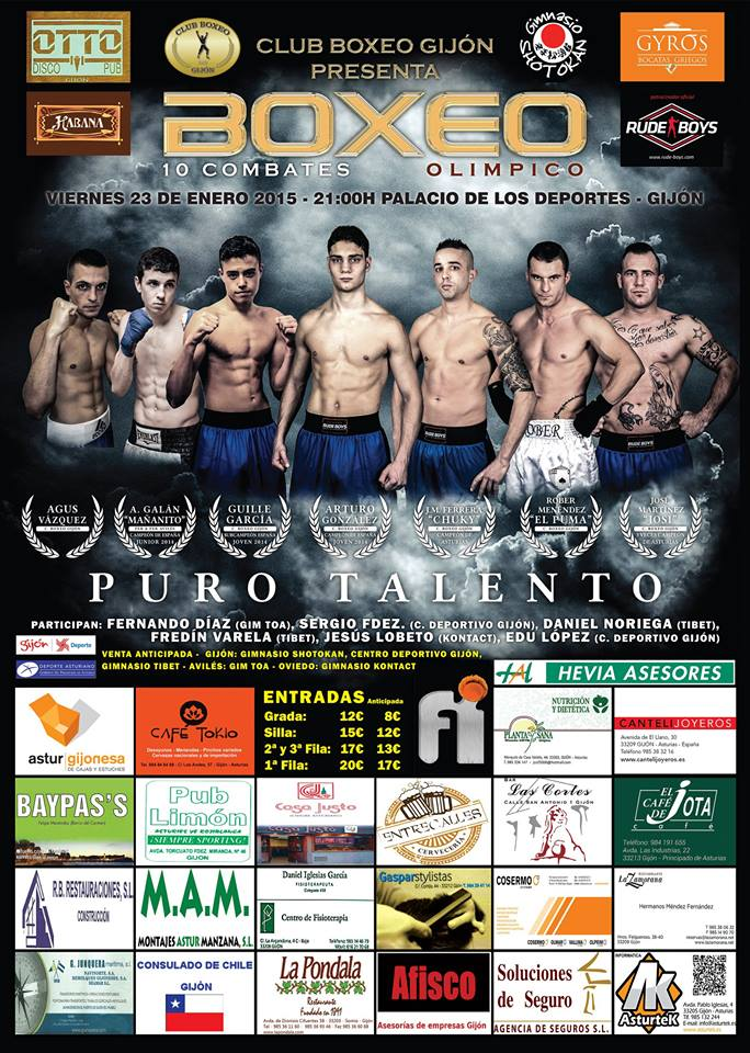 Velada de Boxeo en Gijon Puro Talento