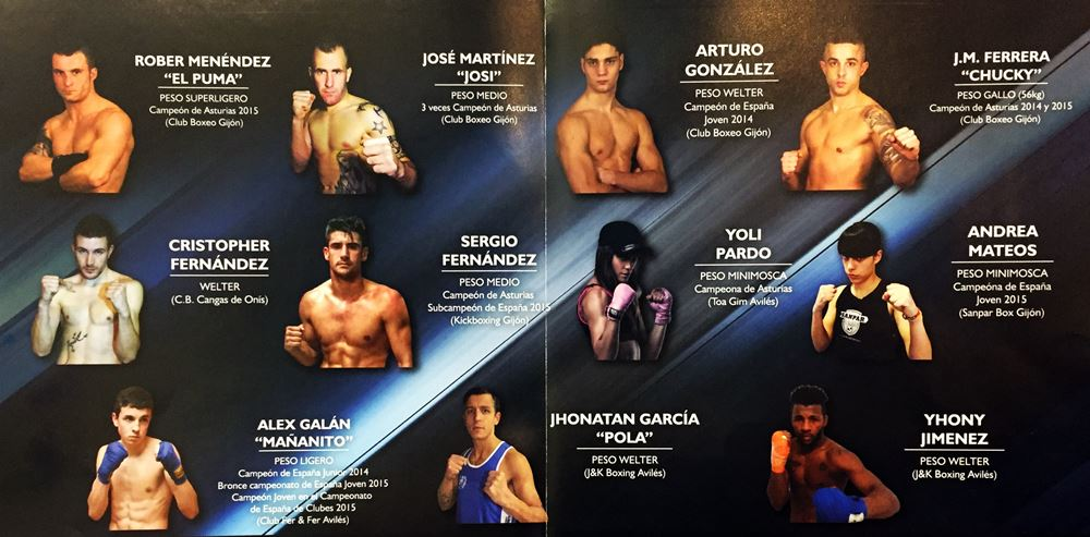Boxeadores Velada gijón 2016