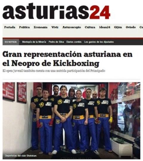 Gimnasio Shotokan - Gran representación asturiana en el Neopro de Kickboxing - Tu gimnasio en Gijón