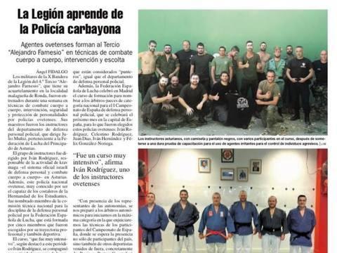 Gimnasio Shotokan - La Legión aprende de la Policía carbayona - Tu gimnasio en Gijón