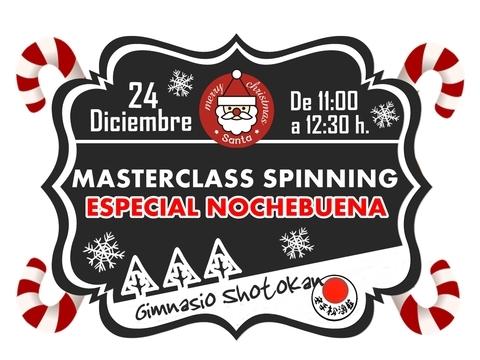 Gimnasio Shotokan - Masterclass Spinning Especial Nochebuena - Tu gimnasio en Gijón