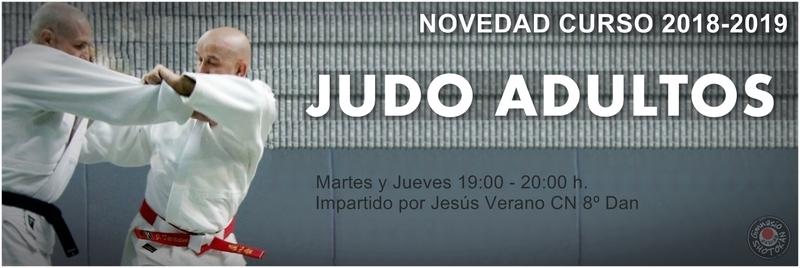 Una de las grandes novedades de este curso 2017/2018: Ahora también clases de Judo para adultos en el Gimnasio!